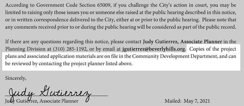 Sixty Hotel public notice materials advisory