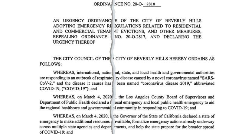 COVID-19 urgency ordinance