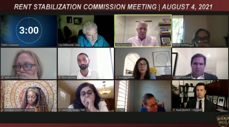 RSO commission meeting August 4, 2021