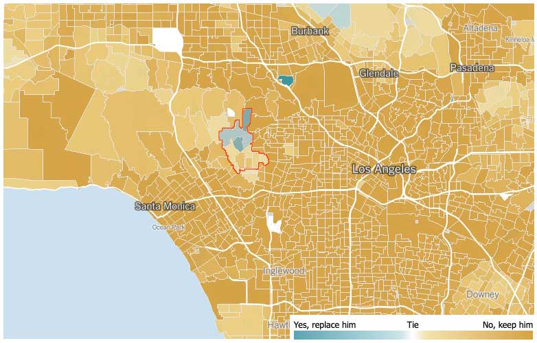 Recall 2012 map: Beverly Hills in the region
